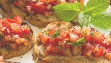 Tomato and basil bruscetta recipe