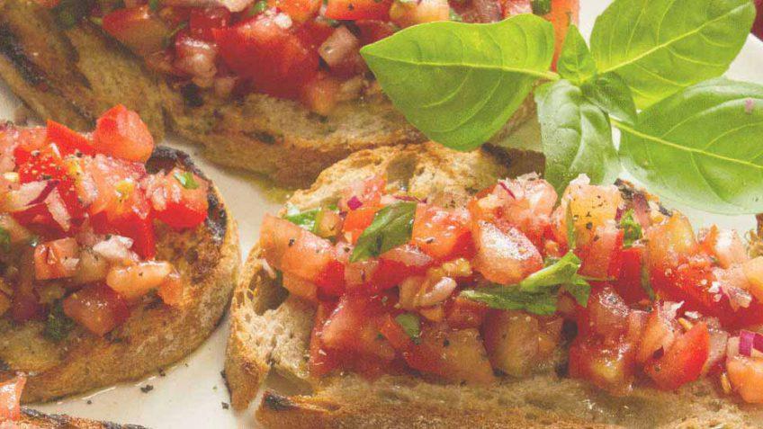 Tomato and basil bruscetta recipe