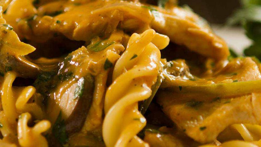 Chicken Strogonoff with pasta recipe