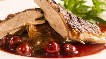 How to roast a duck with cherry sauce recipe