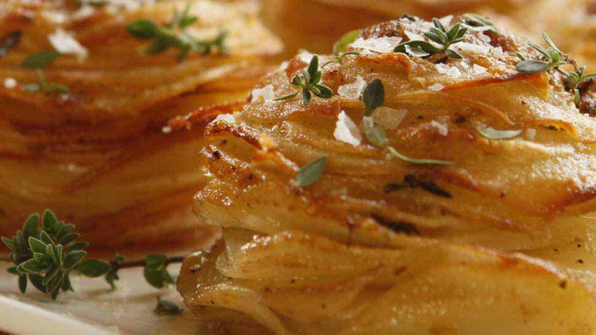 Impressive potato stack recipe