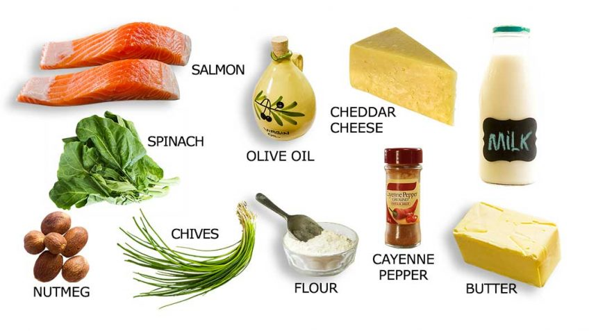 Salmon Mornay Ingredients