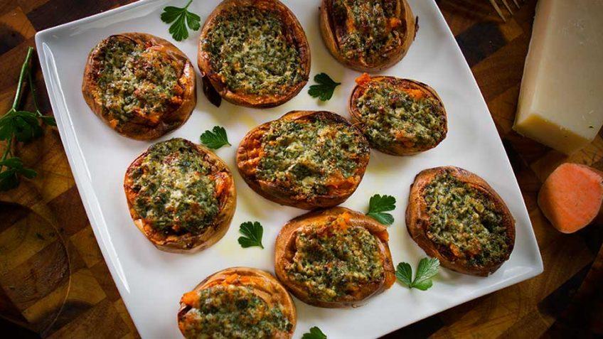 Sweet Potato Parmesan Bakes