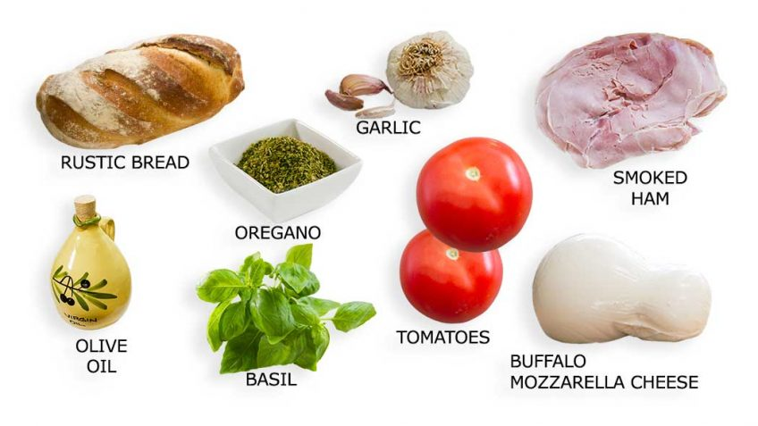 Ham and Cheese Sandwich ingredients