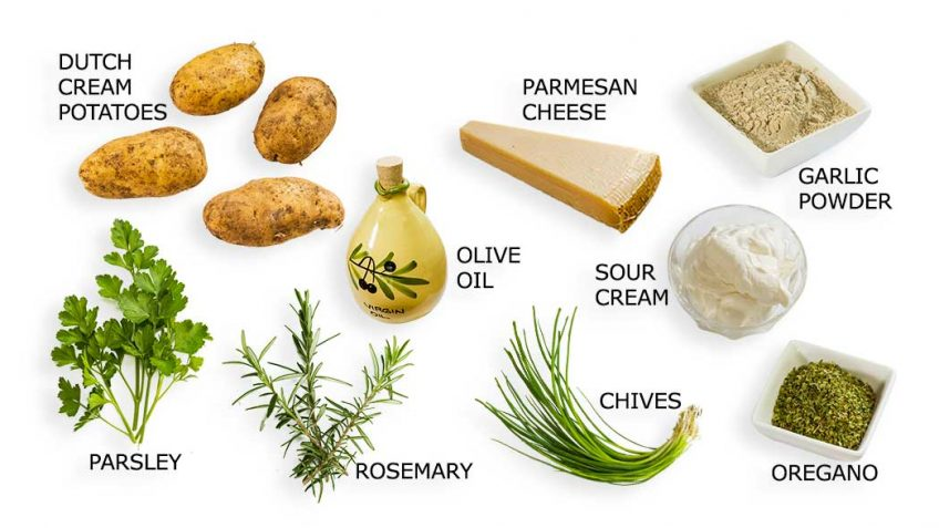 Potato wedges ingredients