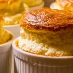 Twice bake Cheese Soufflé Made with French Camembert cheese