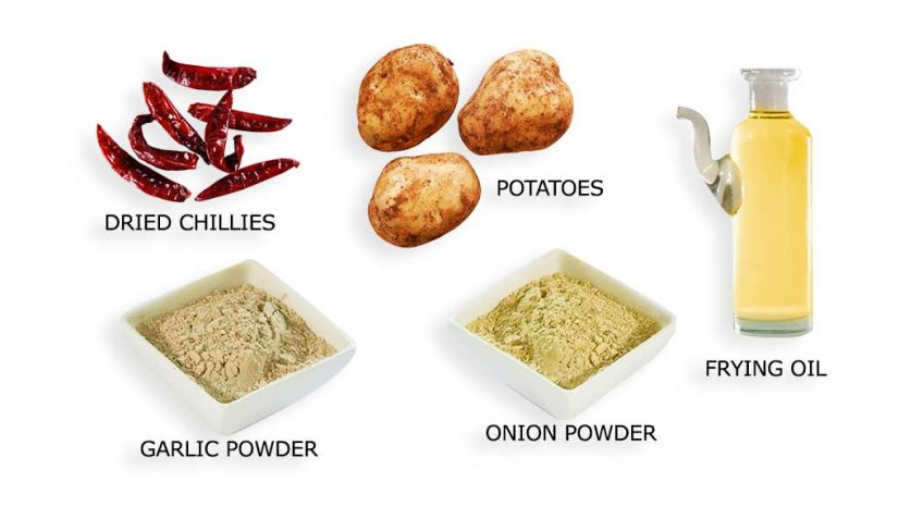 Ingredients for French Fries recipe