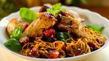 Roast chicken Caramelized vegetables