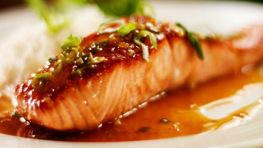 Glazed Pan Seared Salmon with Honey and Soy
