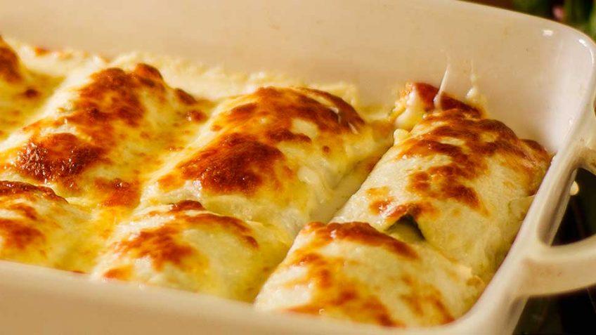 Cheesy Lasagne Spinach & Basil Rolls