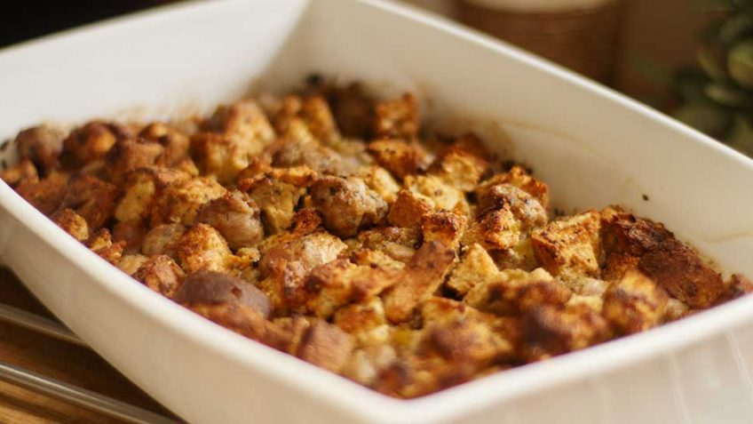 Italian Sausage Turkey Stuffing