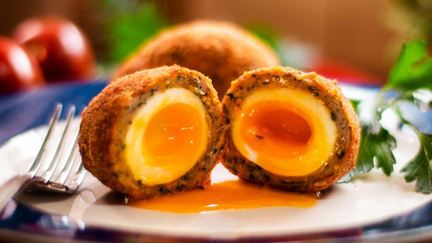 Scotch eggs with Italian sausage