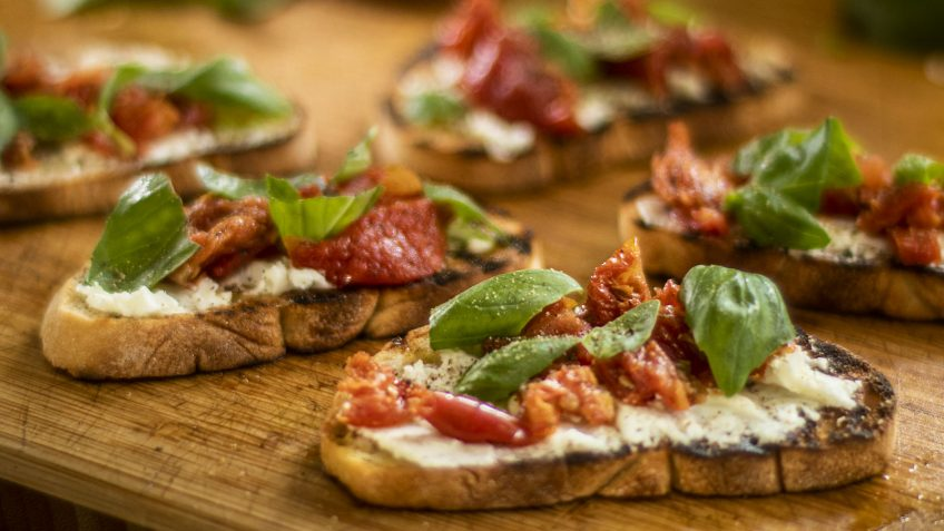 Bruschetta with Semi Dried Tomatoes