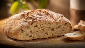 No knead rustic bread