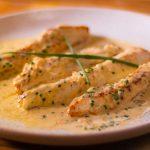 White fish in Creamy Shallot Sauce