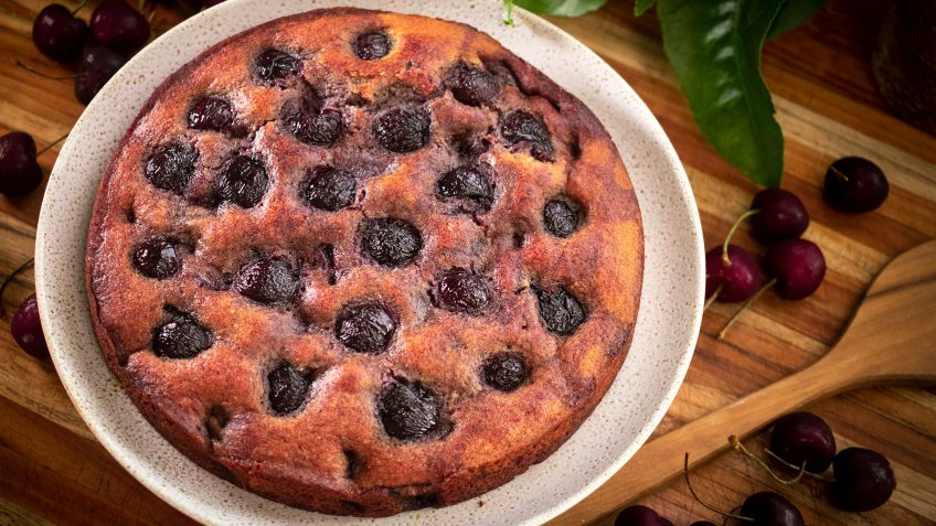 Cherry Cake with Amaretto