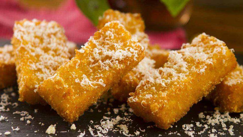 Fried polento chips