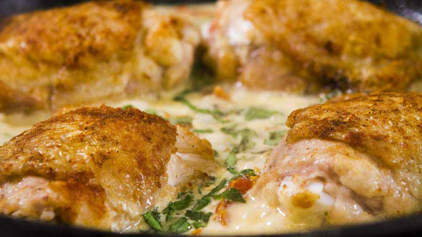 Chicken Milano with sundried tomato and creamy sauce recipe