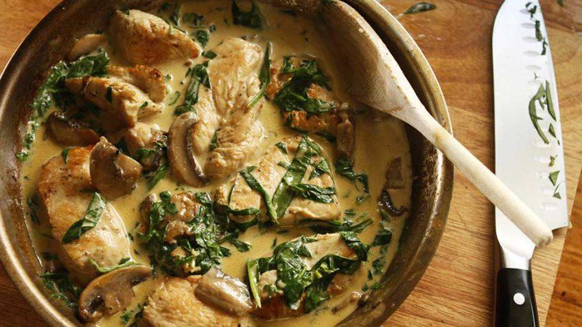 Creamy garlic and Parmesan chicken recipe