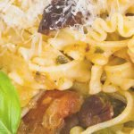 curly-fettucini-recipe with olives