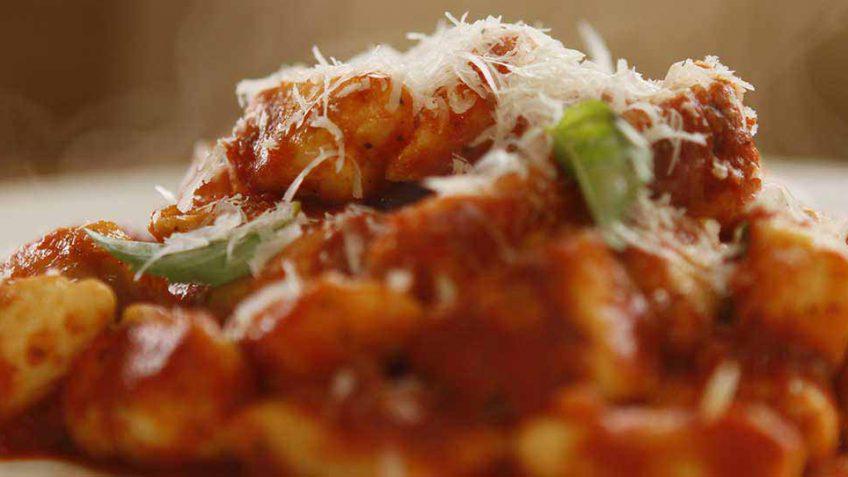 ricotta gnocchi with tomato
