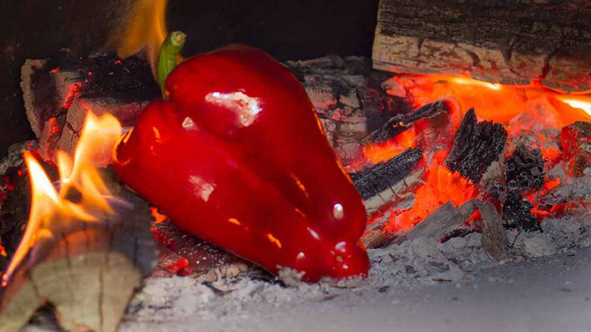 How to skin a capsicum