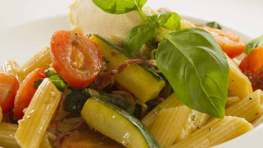 Salami and zucchini penne easy meals with video recipes by chef pasta with salami recipe forumfinder Image collections