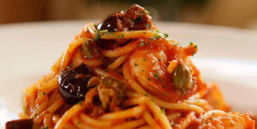 Spaghetti Alla Puttanesca With Shrimp Easy Meals With Video Recipes By Chef Joel Mielle Recipe30