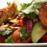Simple chicken Thai salad