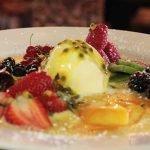Summer Berry Overbake dessert