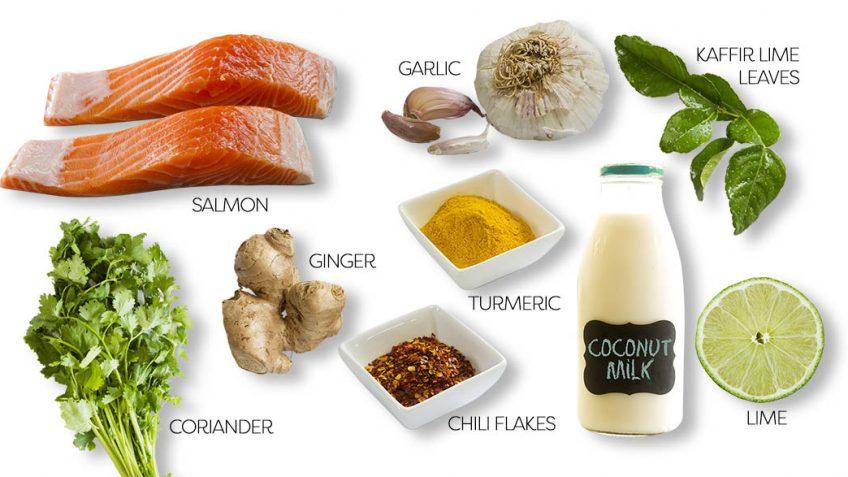Thai baked salmon ingredients