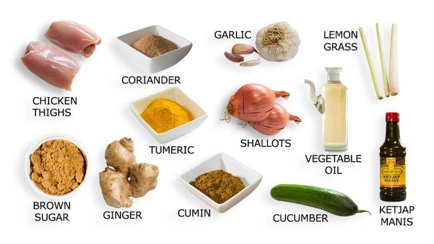 Chicken Satay Ingredients