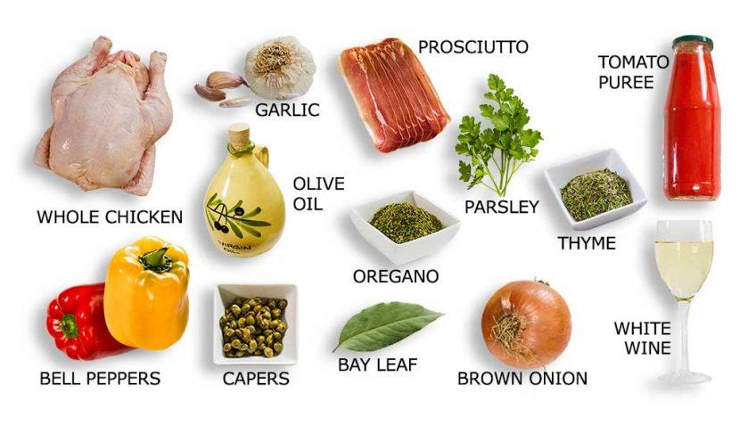 Chicken Roman Recipe Ingredients