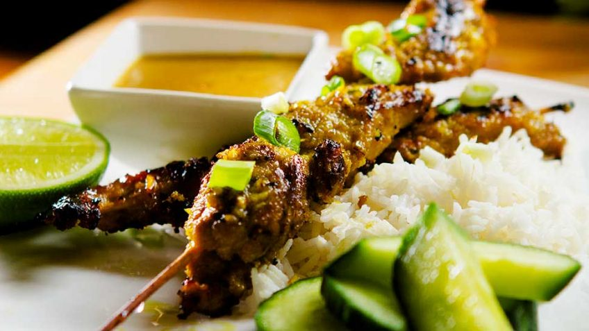 Indonesian Style Chicken Satay recipe
