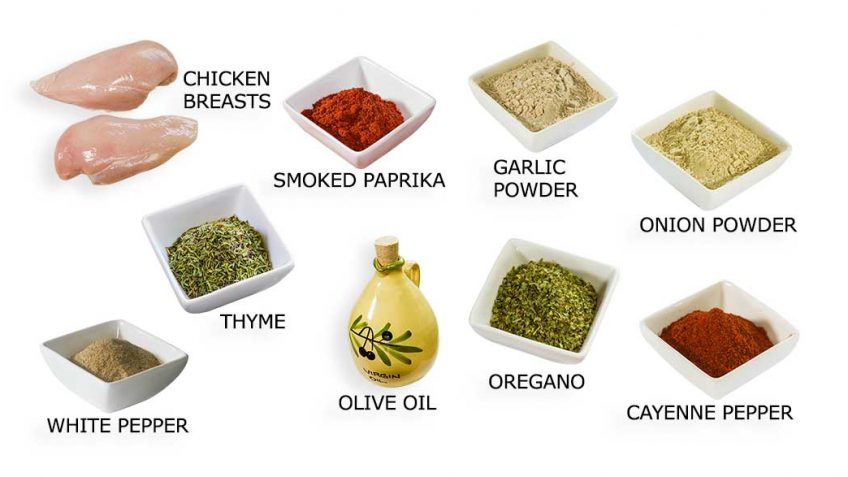 Cajun Chicken Recipe Ingredients