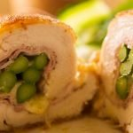 Chicken asparagus with smoked ham and cheese