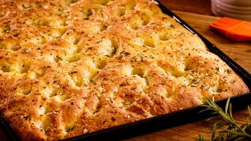 Focaccia with rosemary and sea salt - Italian bread