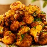 Roasted cauliflower Florets with Parmesan and Smoked Paprika