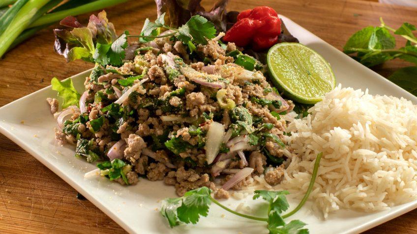 Chicken or Pork chicken Thai larb salad
