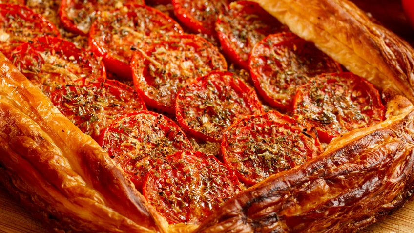 Tomato Tarte Provencale a vegetarian quick meal