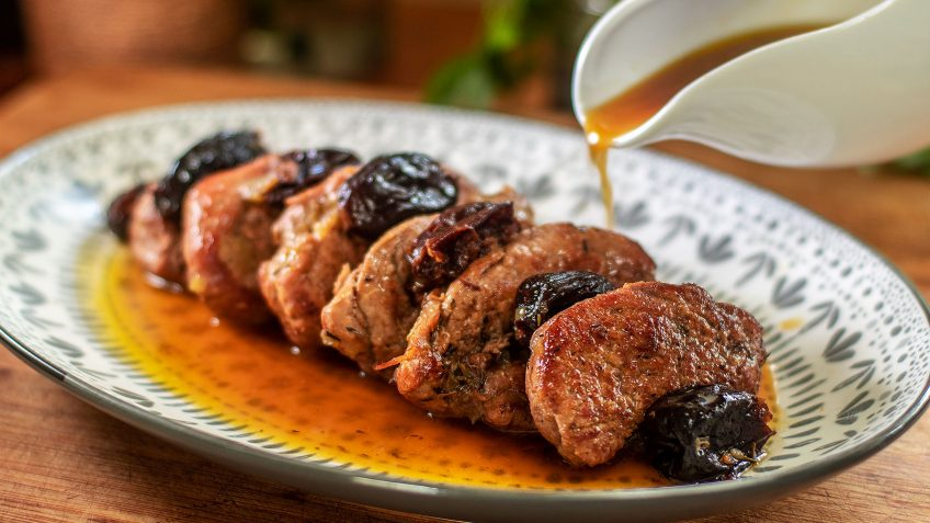 Braised Pork Tenderloin with Prunes