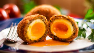 Scotch eggs with Italian sausage