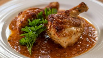 Crispy Chicken in red wine vinegar