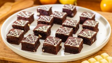 Fudgy Chocolate Brownies for Halloween