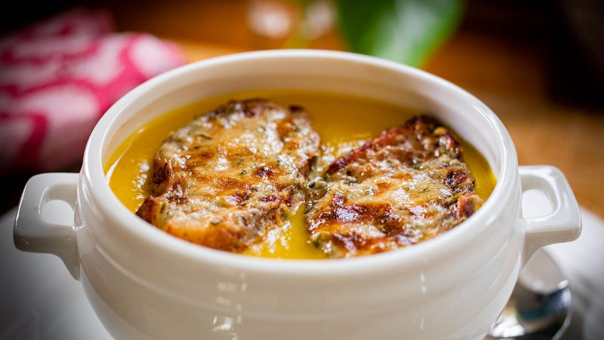 Two Cheese pumpkin soup