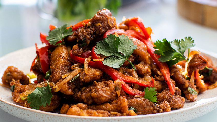 Asian Garlic Fried Chicken with Sichuan Pepper
